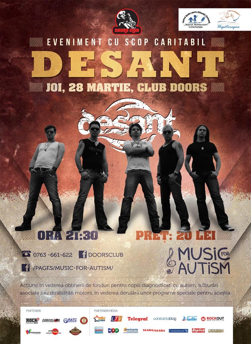 Music for Autism cu trupa DESANT in Doors