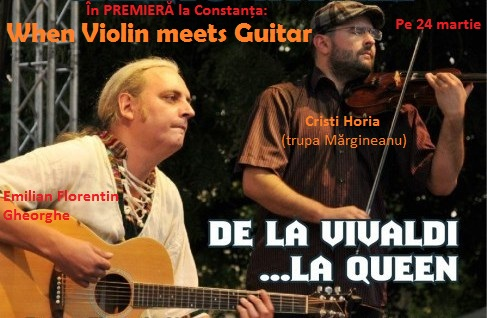 Concurs: 2 INVITATII DUBLE la concertul When Violin Meets Guitar de la Club PHOENIX