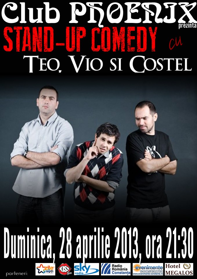 Stand-up Comedy cu TEO, VIO si COSTEL in Club Phoenix