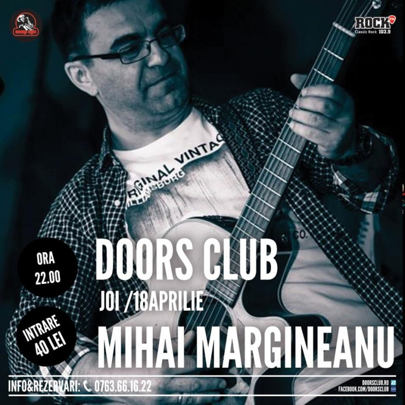 CONCERT: Mihai Margineanu in Club Doors