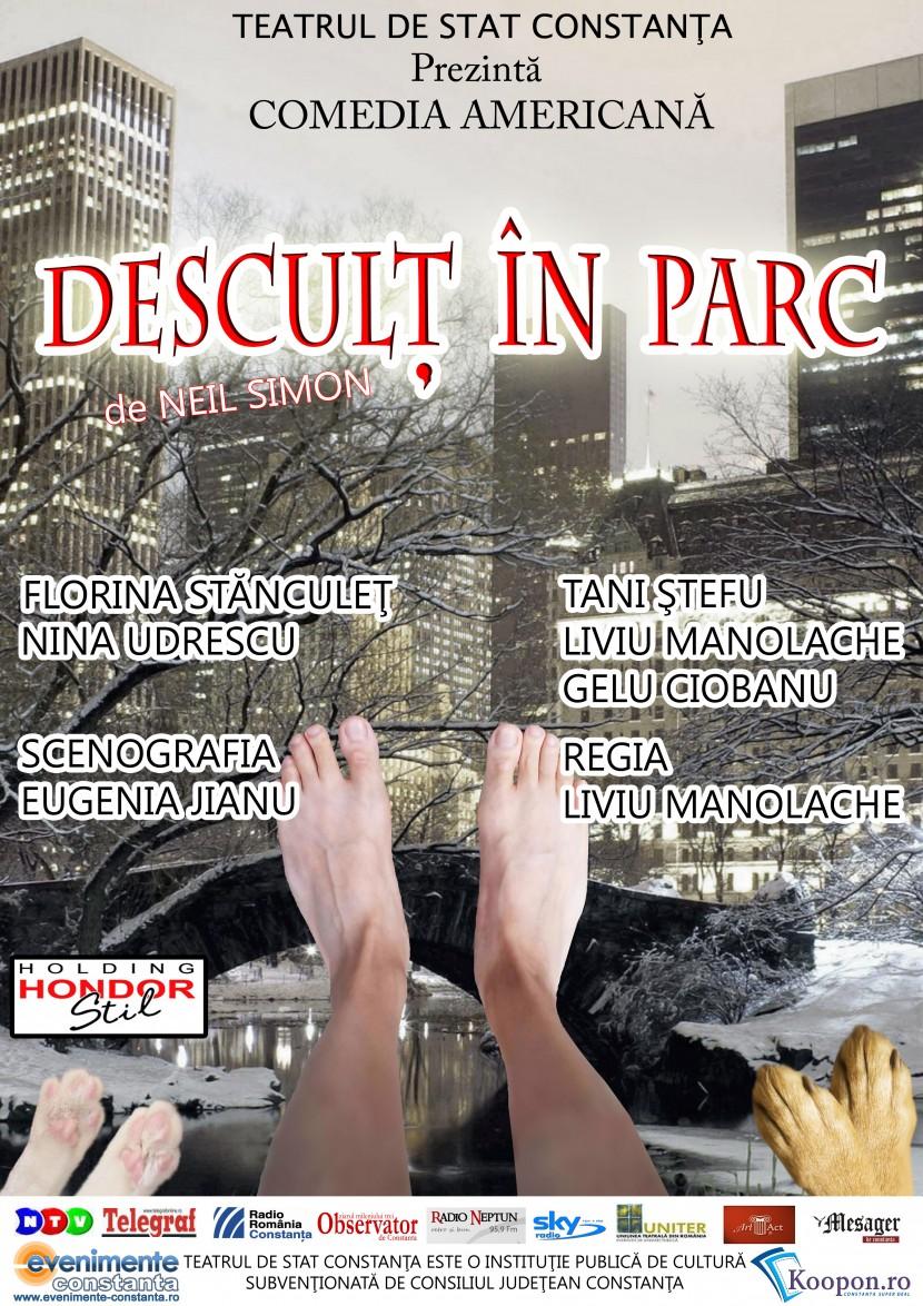 """TEATRU: """"Desculţ în parc"""" la Teatrul de Stat Constanța"""