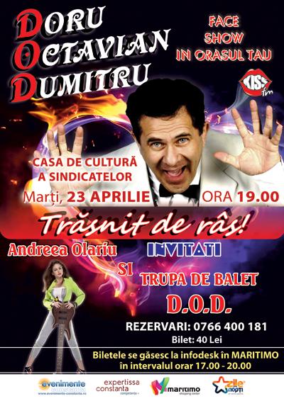 CONCURS: Castiga o INVITATIE DUBLA la spectacolul cu DORU OCTAVIAN DUMITRU