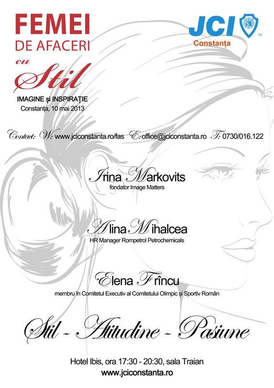 """JCI Constanta prezinta evenimentul """"Femei de Afaceri cu Stil"""""""