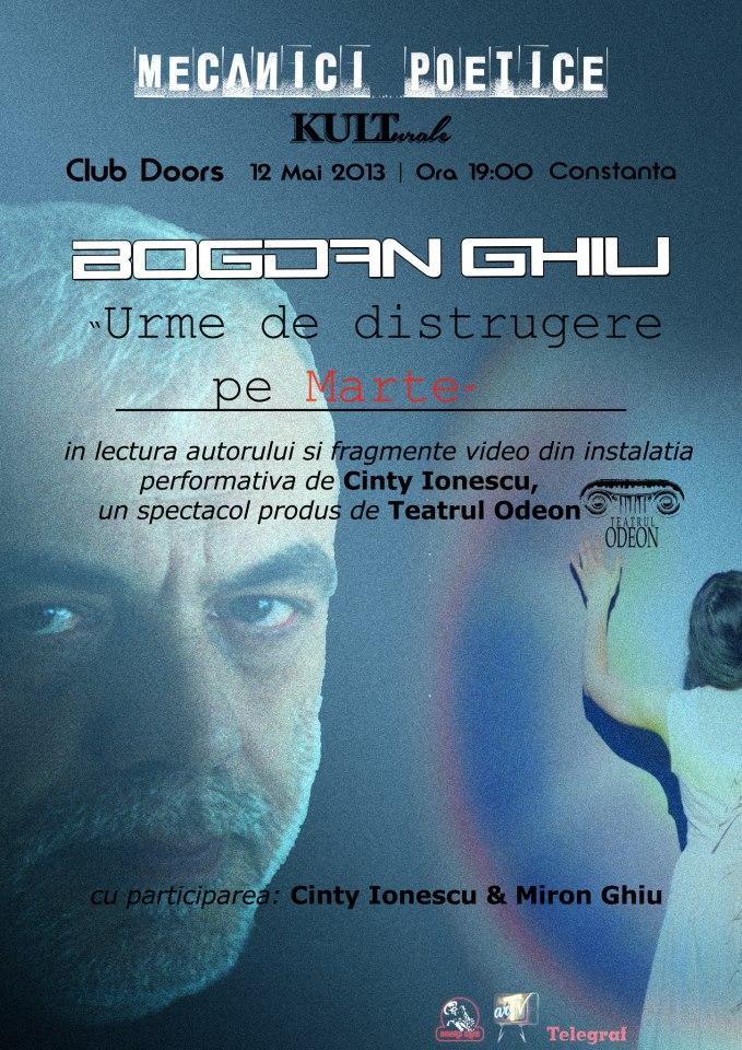 Mecanici Poetice cu Bogdan Ghiu in club Doors