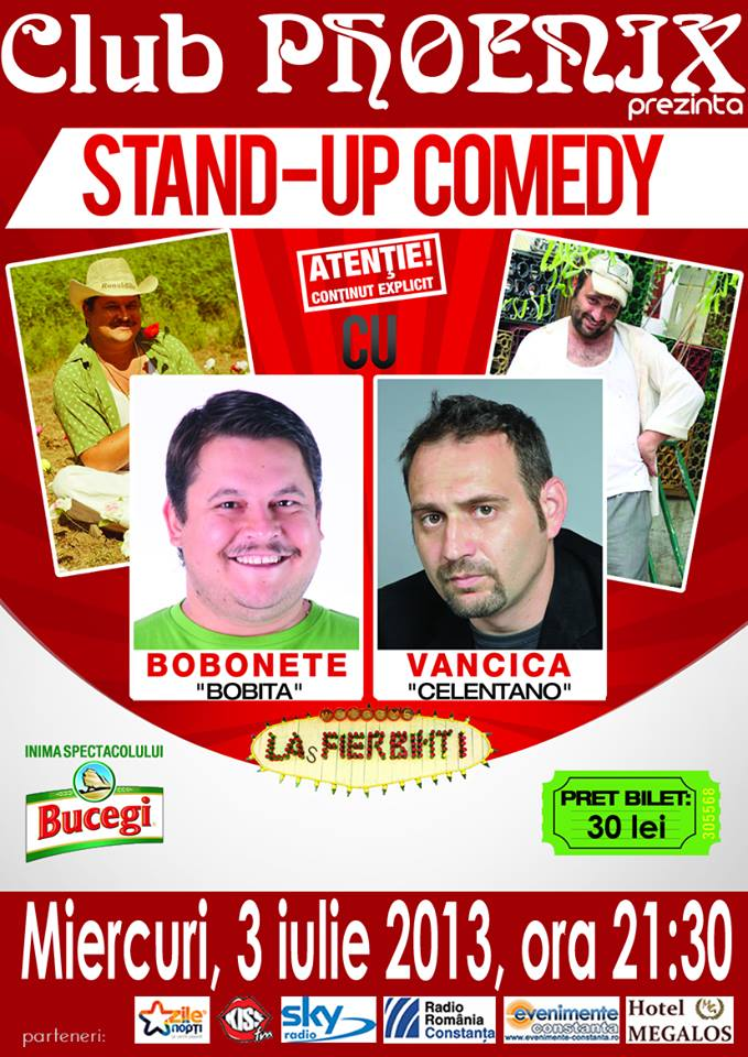 Stand-up comedy cu Bobonete si Vancica in Club Phoenix