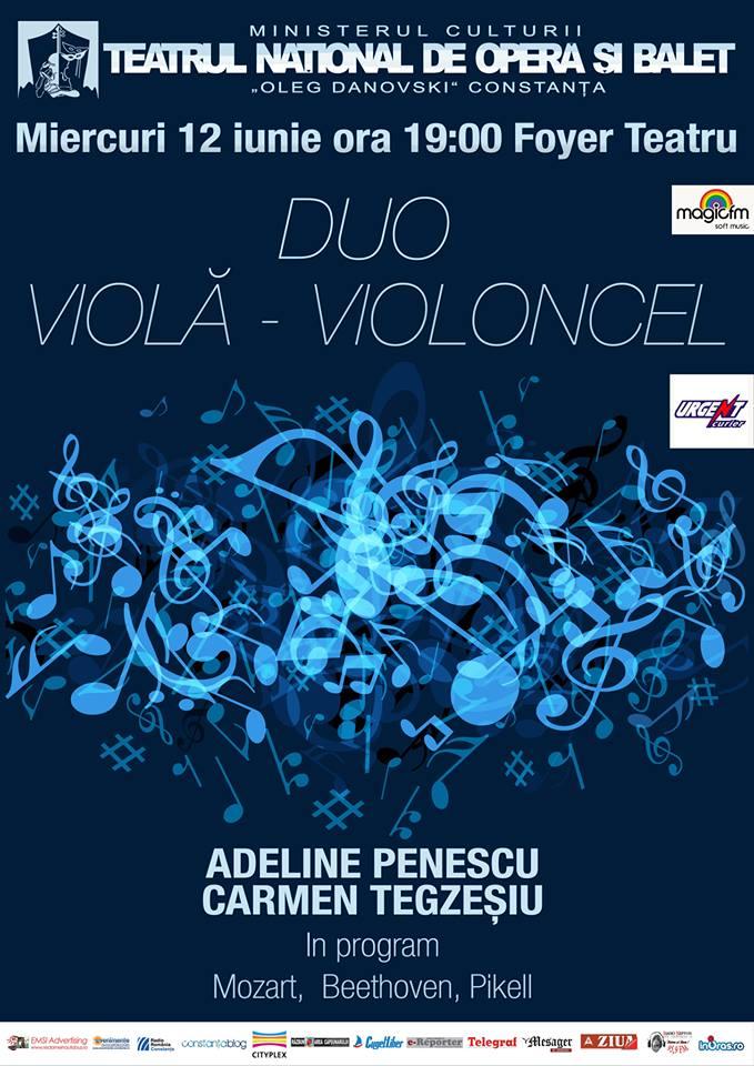 Recital vioara-violoncel la TNOB Oleg Danovski