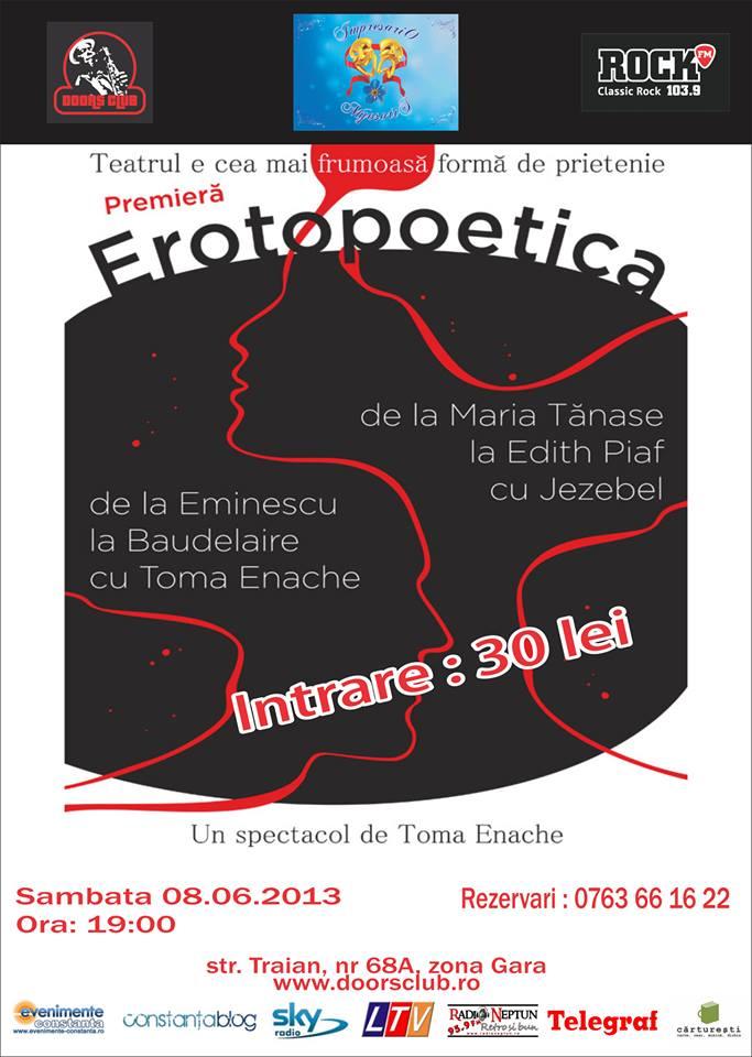 Club Doors  va invita la Erotopoetica, un spectacol de suflet!