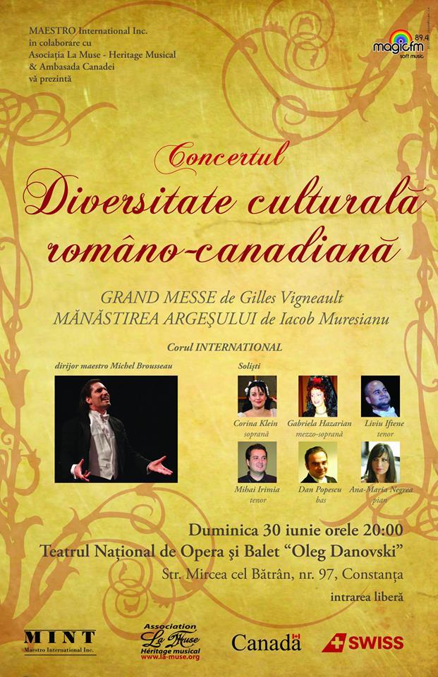 CONCERT: Diversitate culturală româno-canadiană la TNOB Oleg Danovski
