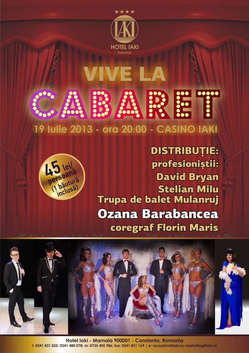 Show de Cabaret Vive la Cabaret – Mulanruj la Hotel IAKI