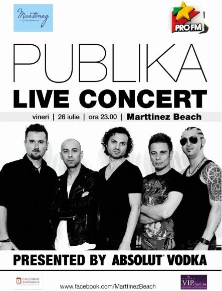Concert PUBLIKA la Marttinez Beach