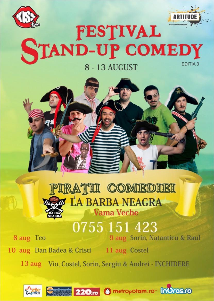 "Festivalul de Stand Up Comedy ""Piratii Comediei"" in Vama Veche"