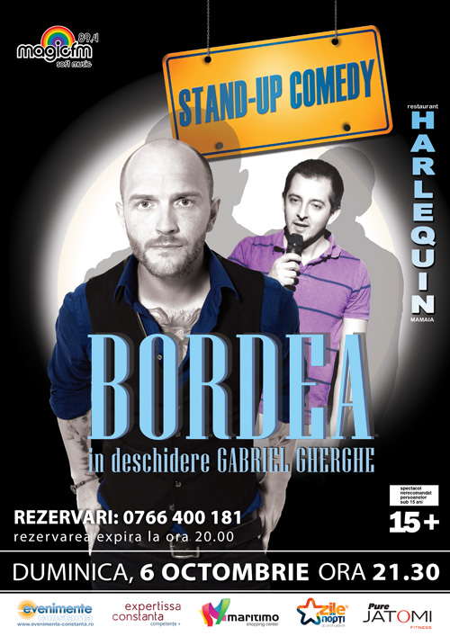Stand-up comedy cu Catalin BORDEA si Gabriel GHERGHE la Harlequin Mamaia