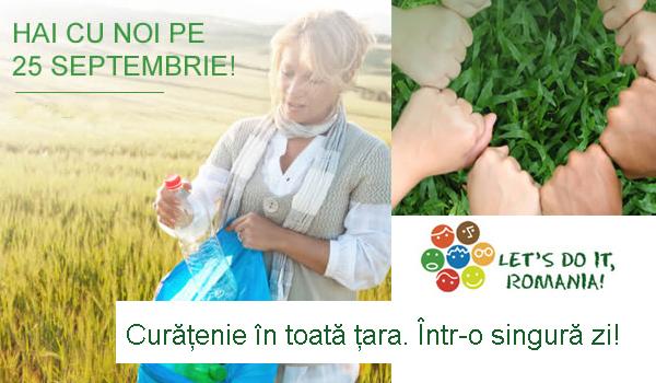 """""""Let's Do It, Romania!"""" a dat startul înscrierilor pentru Marea Curăţenie de pe 28 septembrie! Înscrie-te şi tu!"""