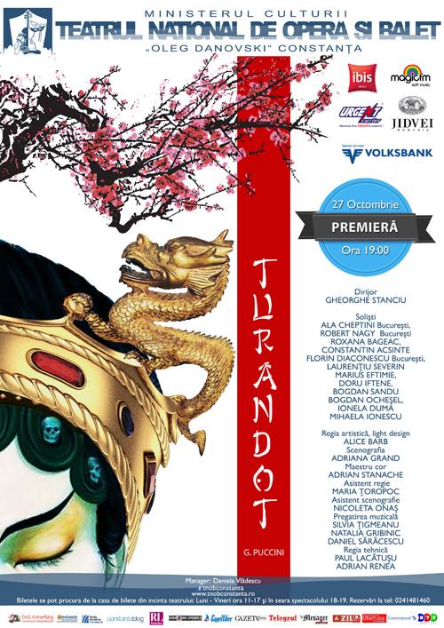 Opera TURANDOT, în premieră la Constanţa!