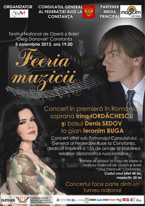 "Premieră în România: soprana IRINA IORDĂCHESCU şi basul DENIS SEDOV, pe scena TNOB ""Oleg Danovski"""