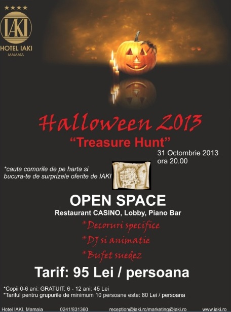 "Petrecere ""Halloween – Treasure Hunt"" la Hotel IAKI"