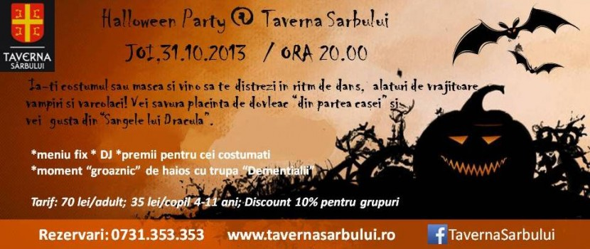 HALLOWEEN PARTY la Taverna Sârbului