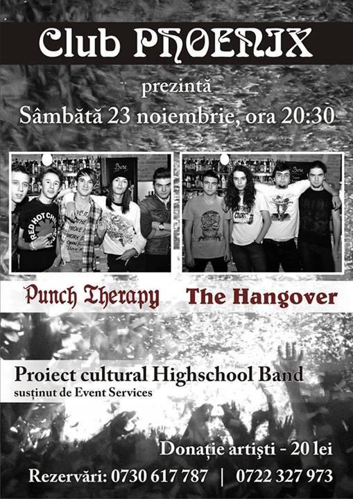 Concert Highschool Band în PHOENIX, cu Punch Therapy şi The Hangover