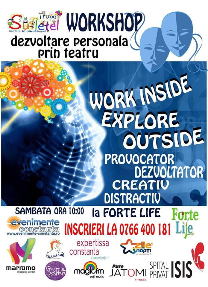 WORK INSIDE, EXPLORE OUTSIDE – workshop de dezvoltare personala prin teatru la Forte Life