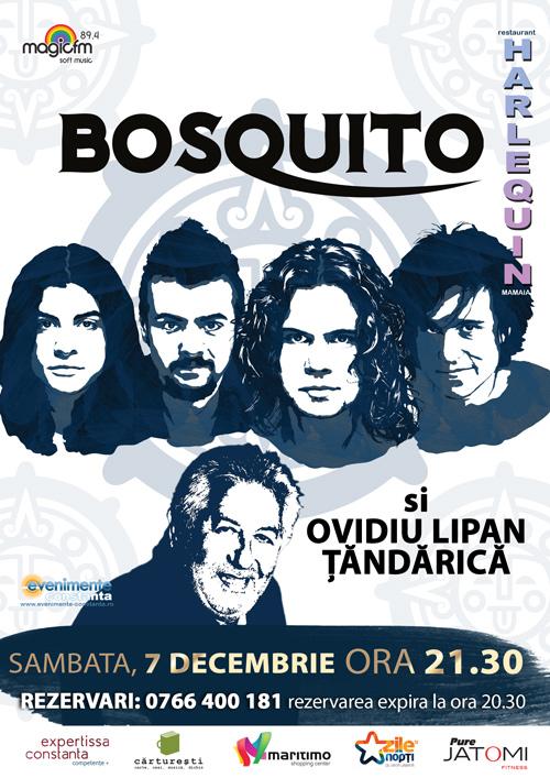 Concert BOSQUITO si OVIDIU LIPAN TANDARICA la Harlequin Mamaia