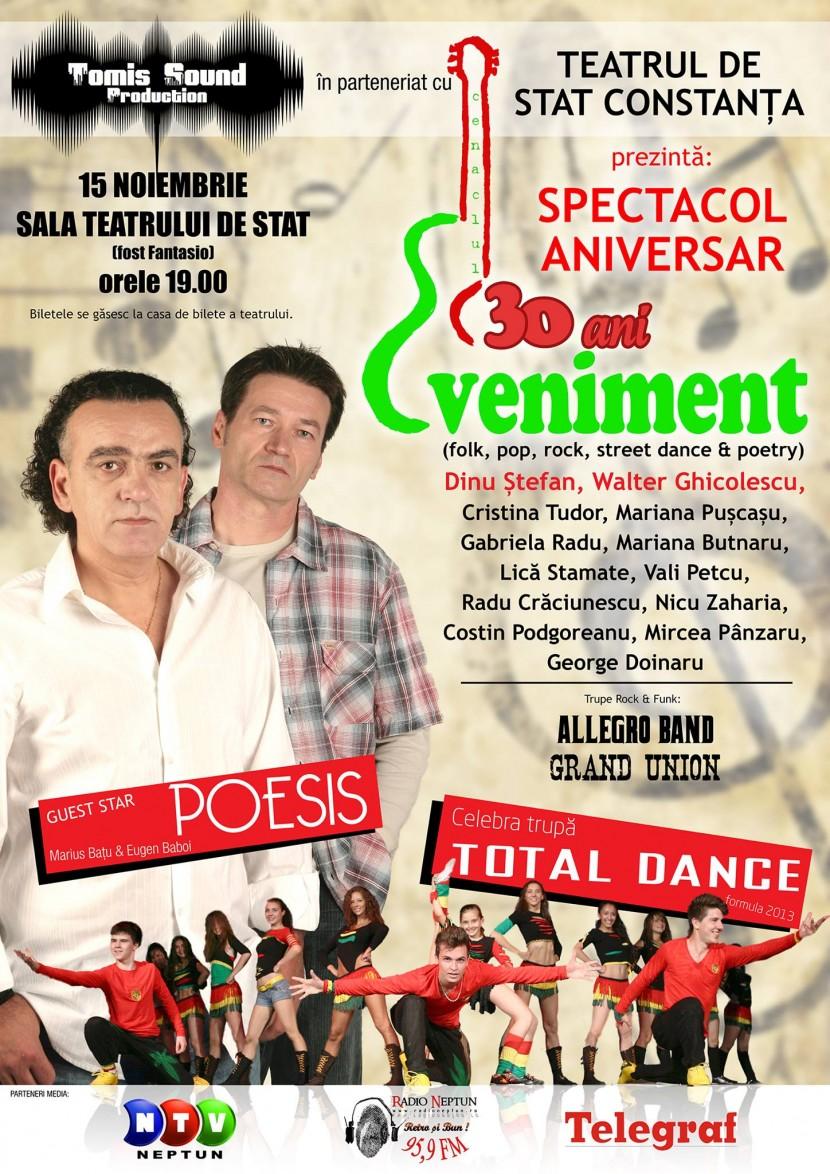 Spectacol Aniversar de FOLK și poezie cu: POESIS, Dinu Ștefan, Walter Ghicolescu și mulți alții
