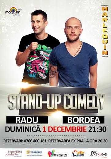 Stand-up comedy cu BORDEA si RADU la Harlequin Mamaia