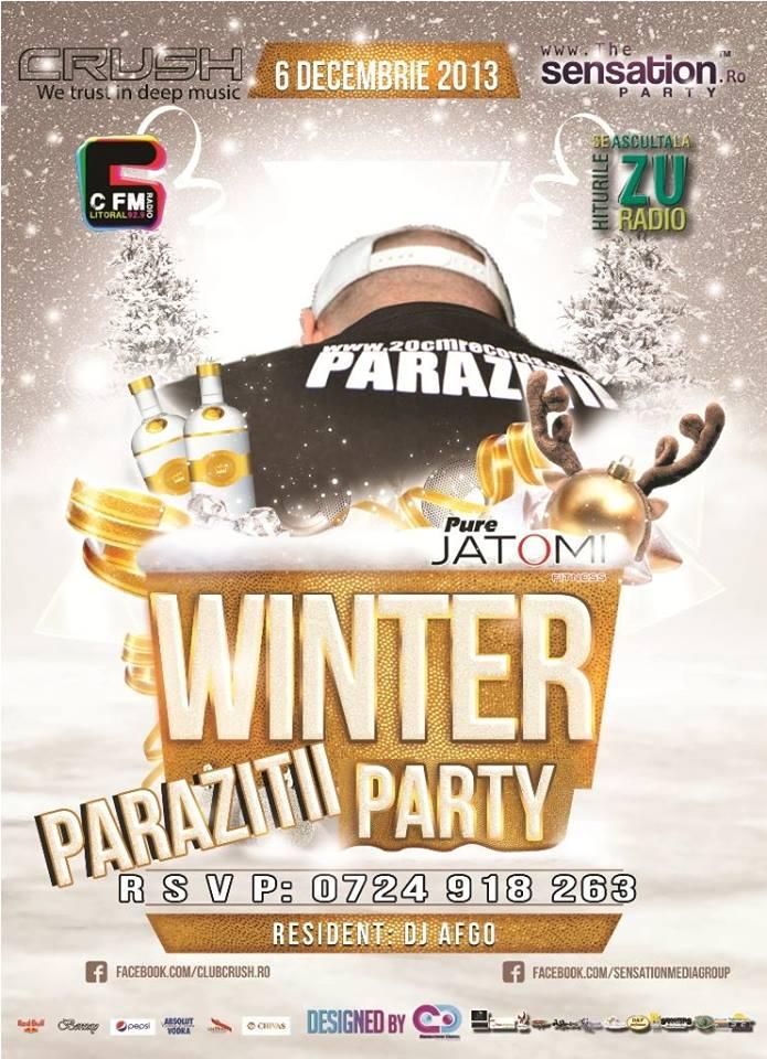 1'st WINTER PARTY, cu PARAZIŢII, în Club CRUSH!