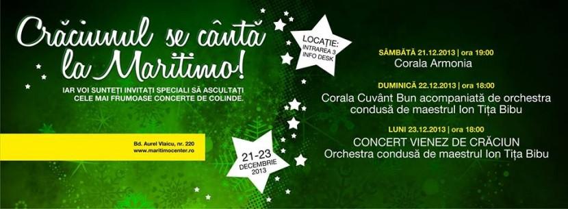Crăciunul se cântă la Maritimo. TREI ZILE de concerte inedite!