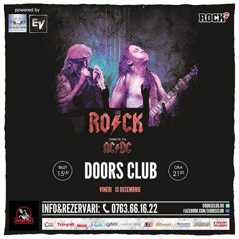 Concert live tribut AC/DC cu trupa The Rock, în Club Doors!