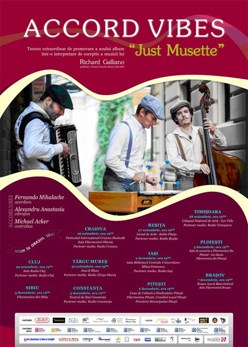 Concert ACCORD VIBES – Just Musette, la Teatrul de Stat Constanţa