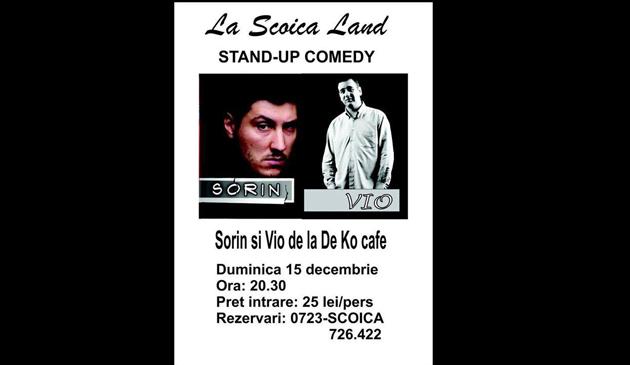 Stand-up cu SORIN şi VIO, la Scoica Land