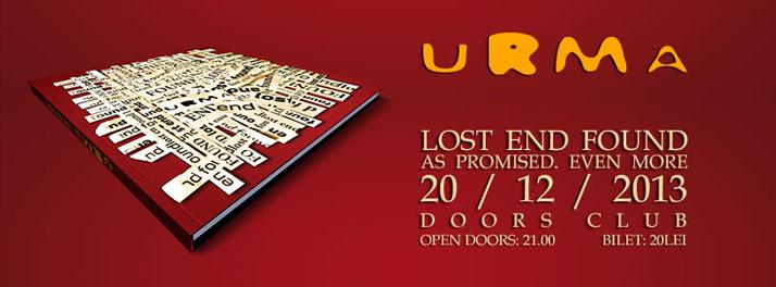"""Concert URMA. Lansare album """"Lost End Found"""", în Doors"""