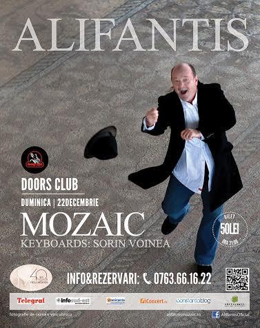 """Concert Live. NICU ALIFANTIS, """"Mozaic"""", 40 de ani de carieră!"""