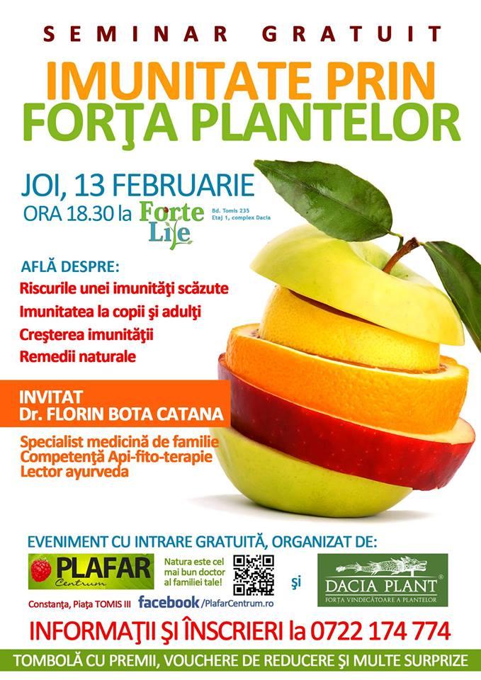 "Seminar: ""IMUNITATE prin forta plantelor"" la Forte Life (REPROGRAMAT)"