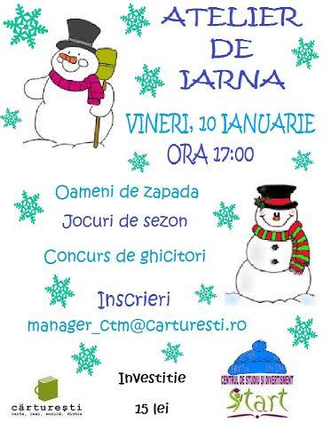 """""""Atelierul iernii"""" la Libraria Carturesti"""