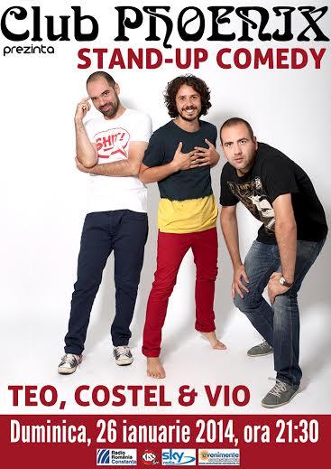 Stand-up Comedy cu TEO, VIO si COSTEL in Club Phoenix