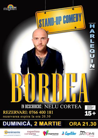 Stand-up comedy cu BORDEA la Harlequin Mamaia