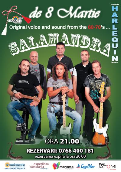 8 MARTIE cu trupa SALAMANDRA la Harlequin Mamaia