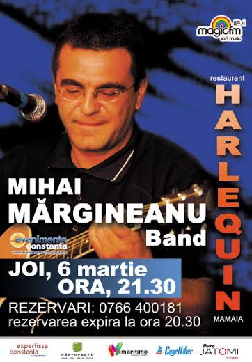 Concert MIHAI MARGINEANU Band la Harlequin Mamaia