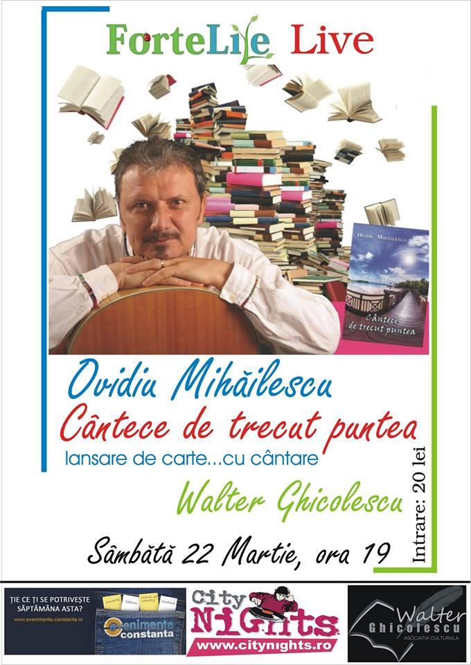 Concert şi lansare de carte cu OVIDIU MIHĂILESCU, la Forte Life