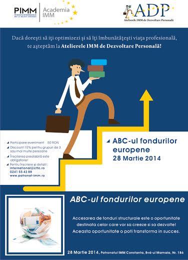 """Workshop """"ABC-ul fondurilor europene"""" pe 28 martie"""