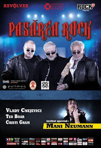 """Concert """"Pasărea Rock"""": BANICIU, KAPPL & LIPAN, la Casa de Cultură"""