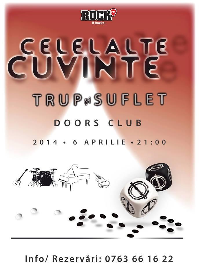 "Concert CELELALTE CUVINTE, în Club Doors. ""Music for Autism"""