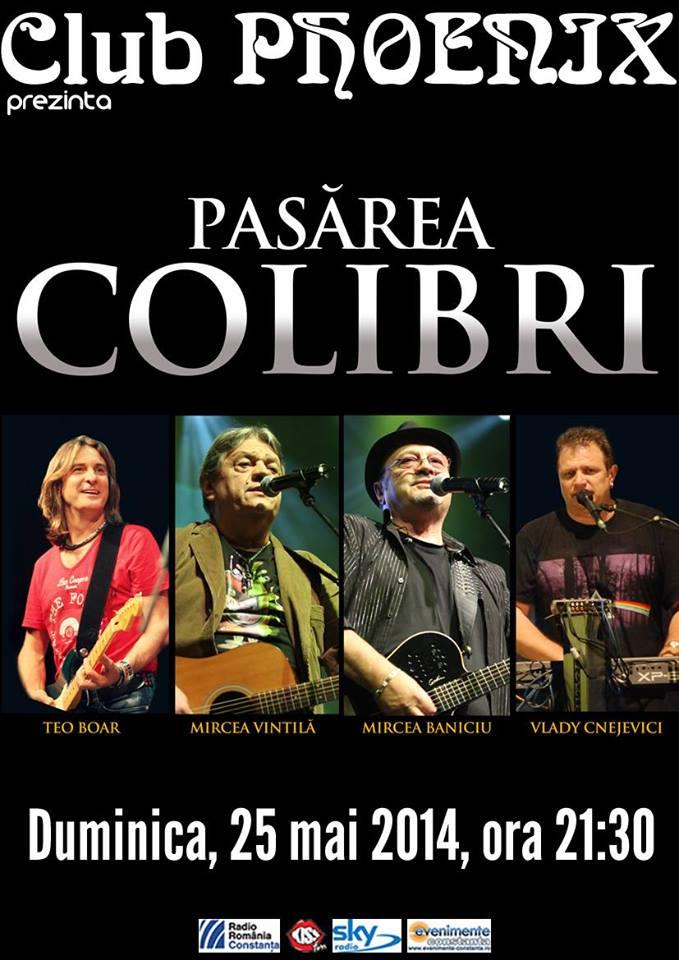 Concert PASĂREA COLIBRI, în Phoenix