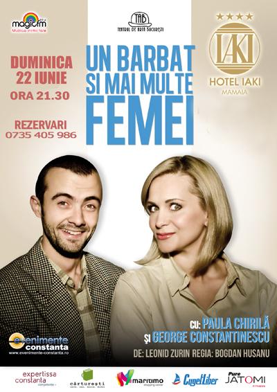 Teatru: UN BARBAT SI MAI MULTE FEMEI la Hotel IAKI