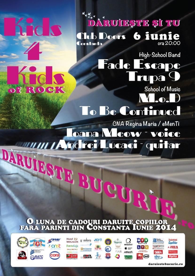 """Total Dance Center te invita la concertul pop-rock """"Kids 4 Kids of Rock"""" in Club DOORS"""