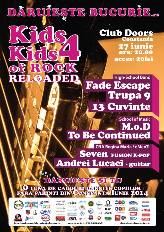 Concert Caritabil. Kids 4 Kids of Rock – Reloaded