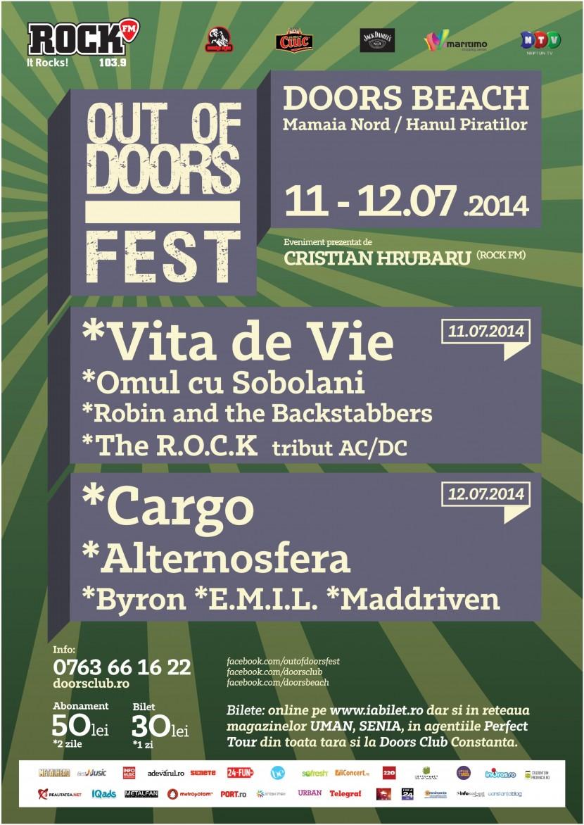 OUT OF DOORS FEST editia a 2-a. Distracţie, muzică live, plajă!