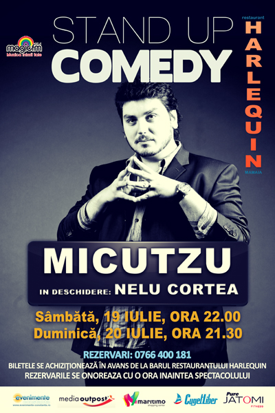 Stand-up Comedy cu MICUTZU si NELU CORTEA la Harlequin Mamaia