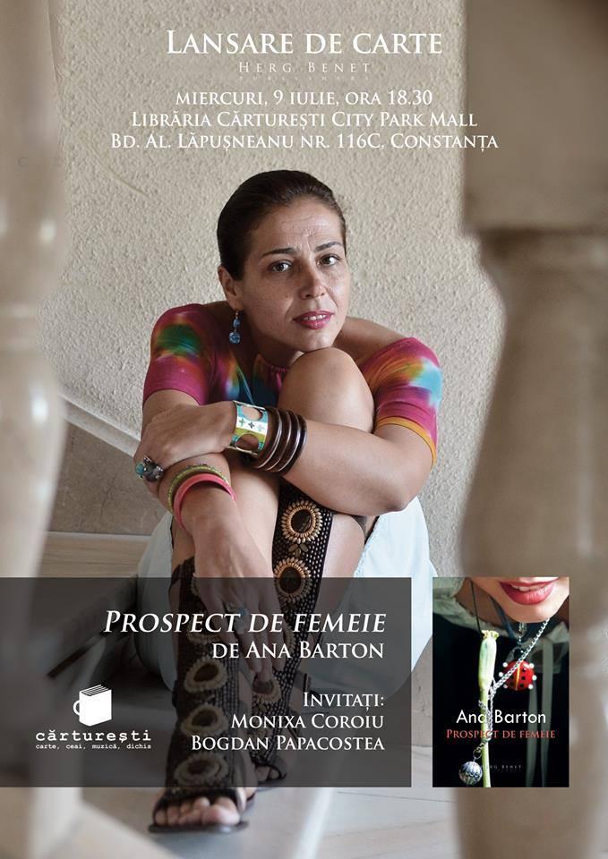 """Lansare """"Prospect de femeie"""", la Cărtureşti"""